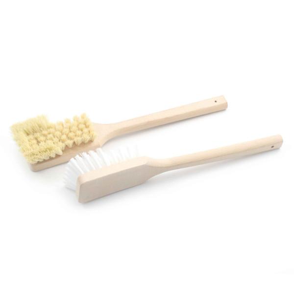 Stielbürste mit Holzkörper mit Bart - 60 x 400 mm