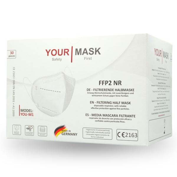 YourMask You-M1 FFP2 NR Masken CE2163 EN149:2001 + A1:2009