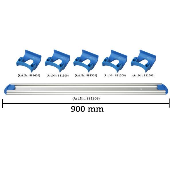 Wandschienen System 900 mm konfigurierbar