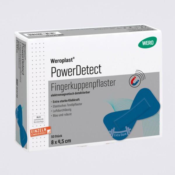 Weroplast PowerDetect Fingerkuppenpflaster aus Textil detektierbar 8 x 4,5 cm - 50 Stück