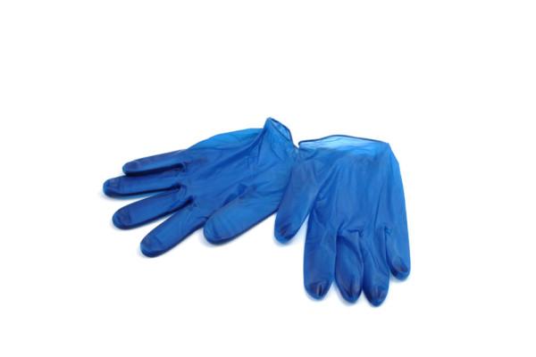 Vinyl-Handschuh detektierbar