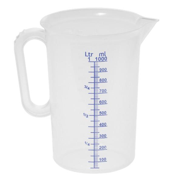 Messbecher aus Kunststoff mit stabilem Griff 250 - 5000 ml