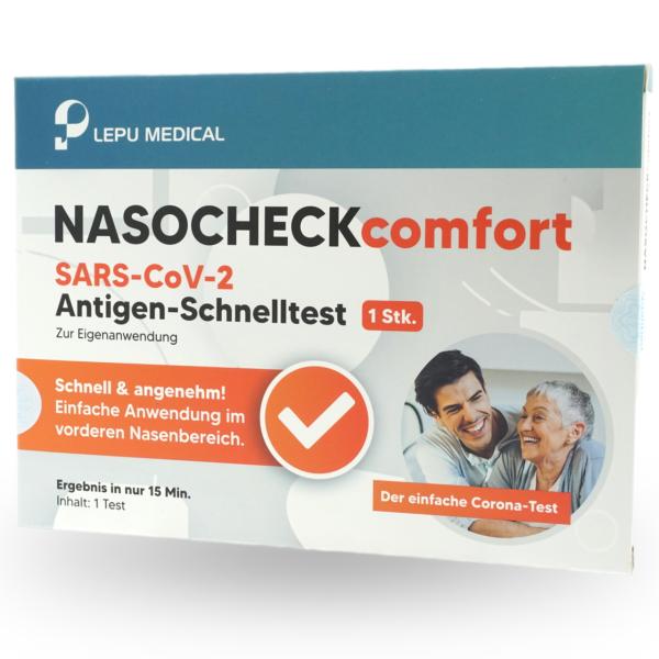 LEPU NASOCHECK comfort SARS-CoV-2 Antigen Laien-Schnelltest - 1 Stück