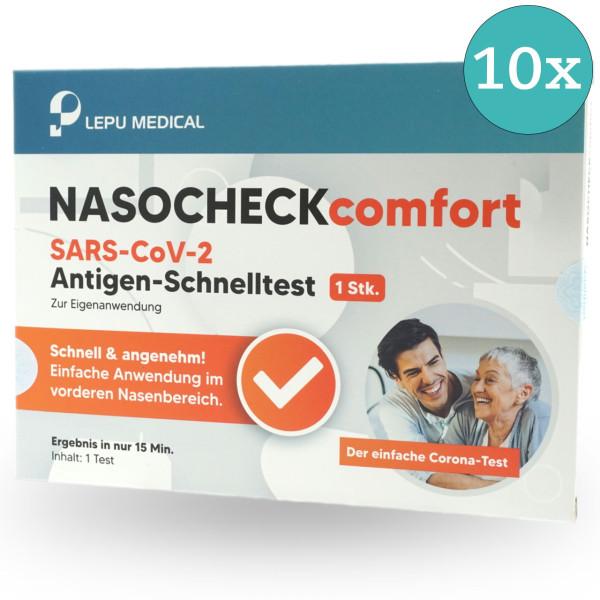 LEPU NASOCHECK comfort SARS-CoV-2 Antigen Laien-Schnelltest - 10 Stück