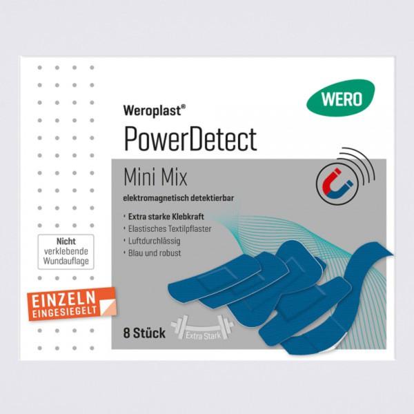 Weroplast PowerDetect Pflasterset aus Textil detektierbar Mini Mix, 8 teilig