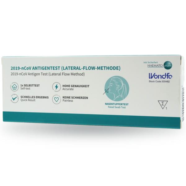 WONDFO 2019-nCoV Antigen Laien-Schnelltest (LATERAL-FLOW-METHODE)