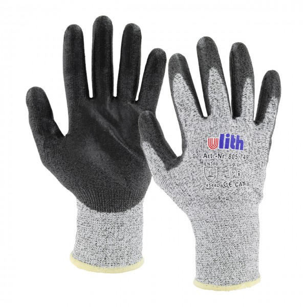 Ulith PU-Arbeitshandschuhe mit Schnittschutz 80574 - 1 Paar