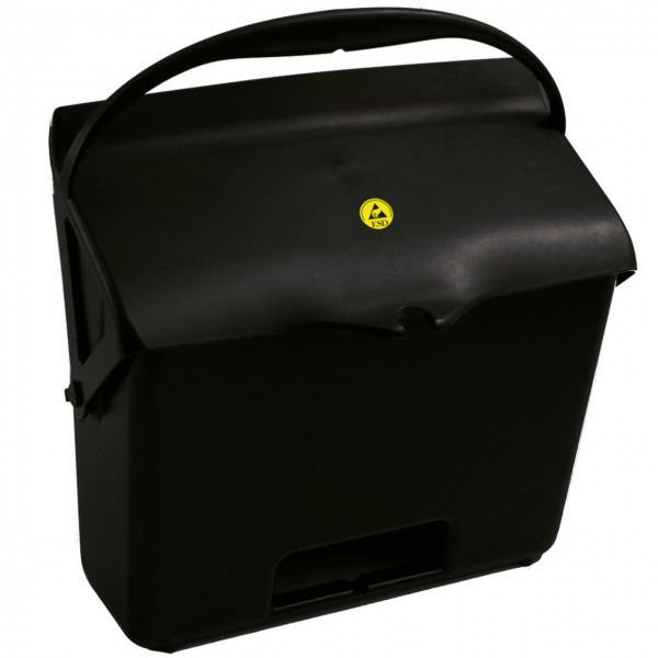 ESD-Kehrbehälter mit Henkel 7 Liter