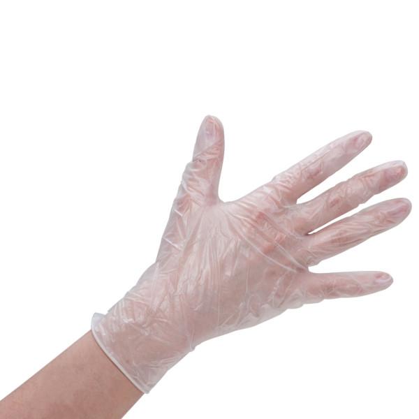 Vinyl-Handschuhe premium gepudert 100er Pack transparent