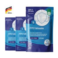 """SENTIAS FFP2-Atemschutzmaske """"Made in Germany"""" CE 2163 mit DEKRA Schadstoff-Prüfung"""
