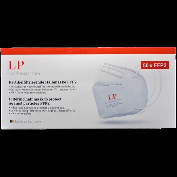 Lindenpartner LP1 FFP2-Atemschutzmaske CE2841 EN149:2001 + A1:2009